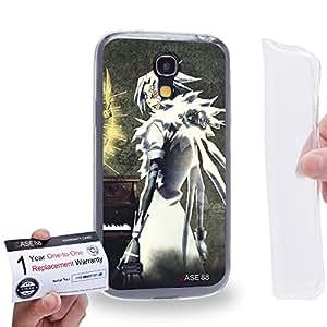 Case88 [Samsung Galaxy S4 Mini] Gel TPU Carcasa/Funda & Tarjeta de garantía - D.Gray-man Exorcist Allen Walker Nea Walker 14th Noah Crown Clown 2051