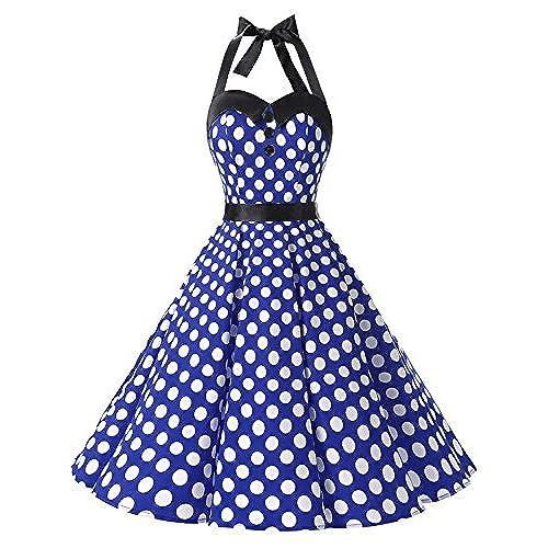 Royal Blue and White Dress: Amazon.com