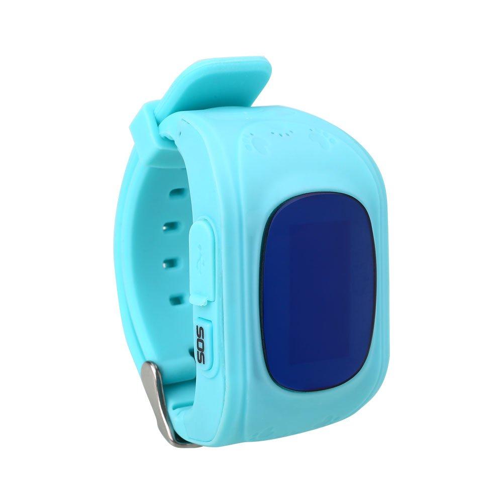 Rosepoem Rastreador GPS de los niños SmartWatch Reloj inteligente para Niños Anti-Perdida Sos tarjeta SIM de reloj Control de Padres Por Smartphone reloj ...