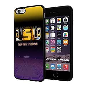 """Soccer GEAUX LSU Tigers SOCCER FOOTBALL CLUB ,Cool iphone 5C (6+ , """") Smartphone Case Cover Collector iphone TPU Rubber Case Black"""