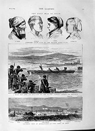Amazon.com: old-print Print 1874 Civil War Spain Carlist ...