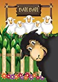Toland Home Garden Photobomb Sheep 12.5 x 18 Inch Decorative Funny Farm Animal Black Bah Garden Flag