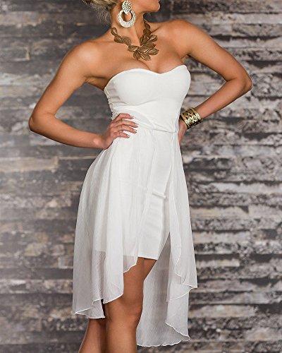 Asymtrique Nu Dos Femme De Cocktail Robe Bustier Blanc Soire De Robe 7tqIE5w
