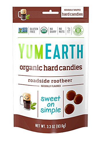 YumEarth Organic Roadside Rootbeer Hard Candy, 3.3 Ounce, Pack of 6