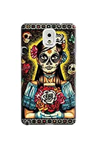 LarryToliver Cellphone Accessories samsung note 3 Case with Customizable Beautiful Skull Arts Background image #3 by icecream design