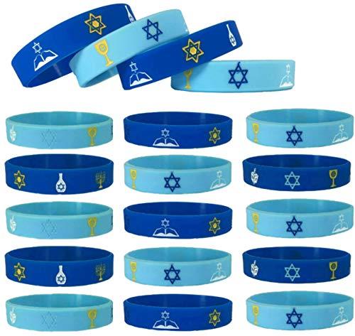 20 pc Jewish, Hanukkah, Bar Mitzvah, Jewish, Israel Wristbands/Party Favors (Adult, Jewish)