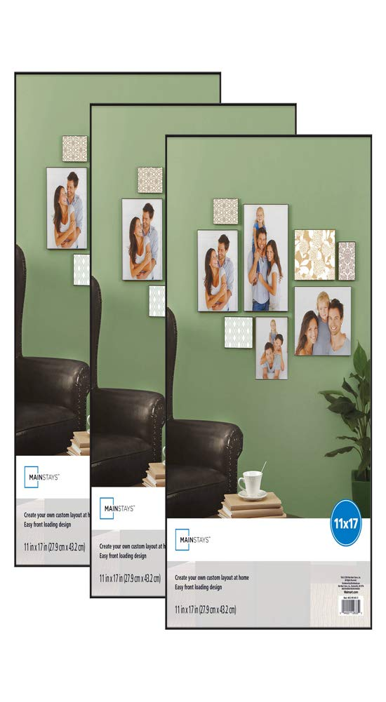 Amazon.com - Mainstay 11x17 Picture Frame with Glass, Set of 3 ...