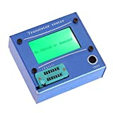 SODIAL(R) Multifunction LCD backlight transistor tester diode thyristor Capacitive ESR LCR meter with blau plastic housing