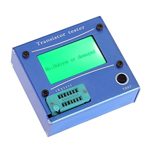 SODIAL(R) Multifunction LCD backlight transistor tester diode thyristor Capacitive ESR LCR meter with blau plastic housing by SODIAL(R)