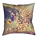 ArtVerse Justin Duane Cherry Blossoms Floor Pillows Double Sided Print with Concealed Zipper & Insert, 40'' x 40''