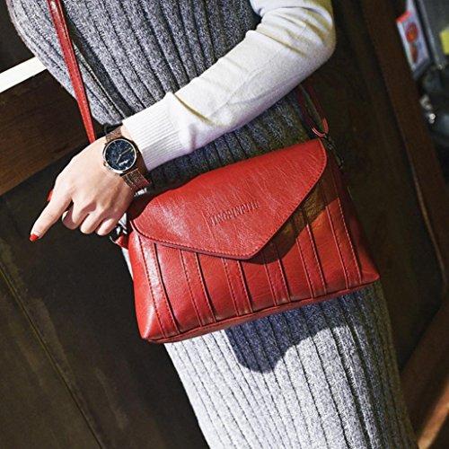 Party Main Épaule À Vintage Esailq Rouge Sacs Embrayages Messager Bourse Femmes Bandoulière BRxwFwq