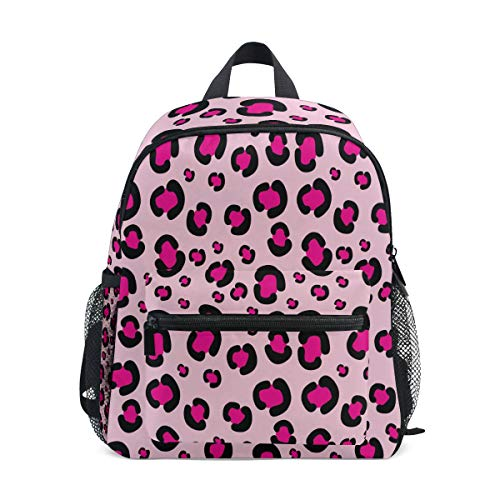 Backpack Girly Pink Rosy Leopard Print Pattern Print School Bags Boy Girl Daypack ()