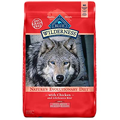 Blue Buffalo Wilderness High Protein Grain Free, Natural Adult Small Breed Healthy Weight Dry Dog Food