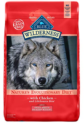 Blue Buffalo Wilderness High Protein Grain Free, Natural Adult Small Breed Healthy Weight Dry Dog Food, Chicken 11-lb from Blue Buffalo