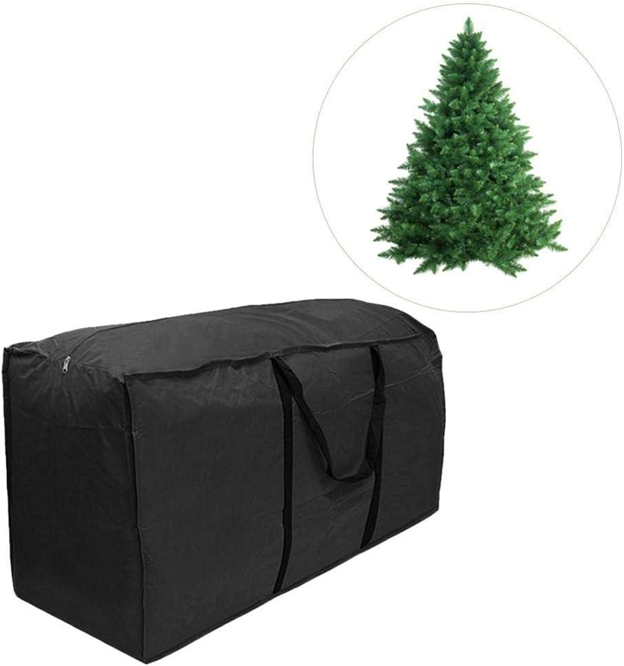 SH-Flying steadyuf Bolsa de Almacenamiento Ligera e Impermeable de Árbol de Navidad Resistentes Carcasa de Transporte Liviana para Guardar Cojín Muebles Otros Accesorios de Jardín Patio Negro everyday