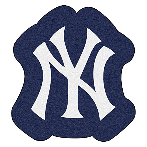 MLB New York Yankees Mascot Novelty Logo Shaped Area Rug -