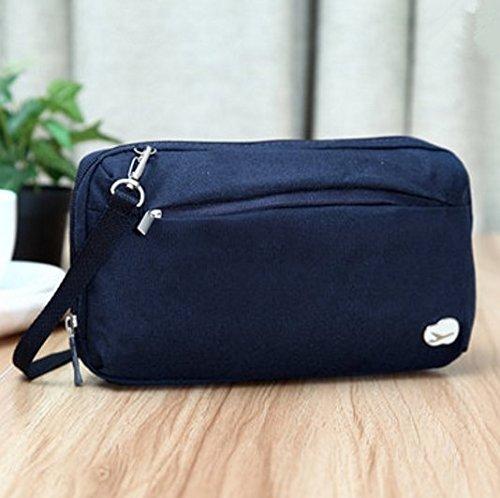 TENGGO Casual Nylon Poids Léger Multifonction Sac De Rangement Cosmétique Sac Shoulderbags Crossboby Sac-Jaune Bleu