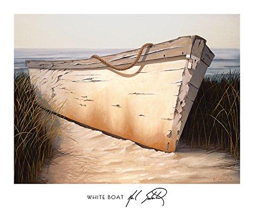 (Karl Soderlund White Boat Art Print Poster 32x27)