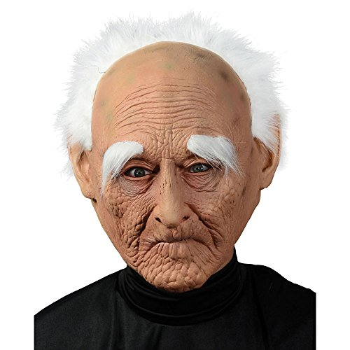 Adult Old Man Mask With Hair (Old Man Mask)