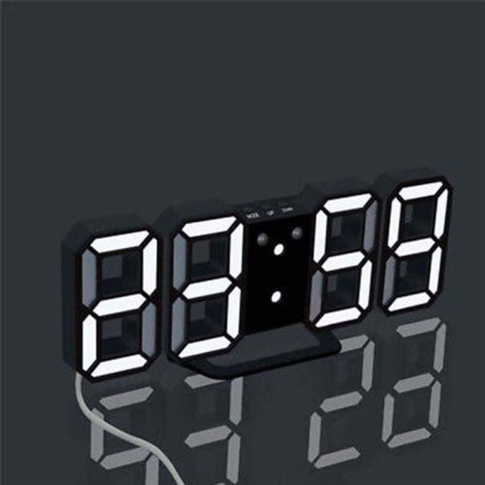 PKLFQQA Reloj Despertador Reloj de Pared con Pantalla Reloj Digital con led Reloj Hermoso de Moda Lindo Reloj de Corriente alterna de Escritorio Digital Reloj Hermoso de Moda Lindo Reloj ba