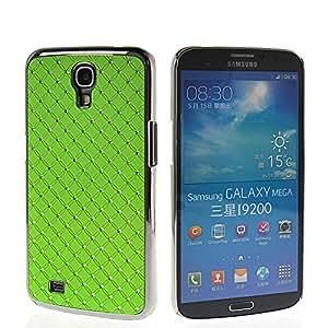 QUSECASE Bling Cromo Duro Carcasa Tapa Caso Funda Cover Case Para Samsung Galaxy Mega 6.3 I9200 Verde