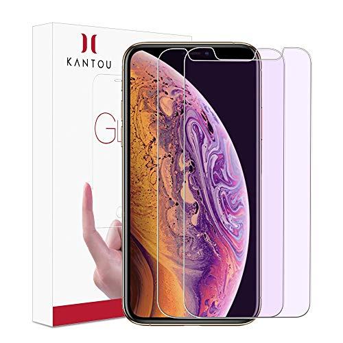 Kantou Screen Protector for iPhone Xs Max (6.5 2018), [2 Packs] [Anti-Blue Light Ray] Eye Protect Tempered Glass Screen Protector for iPhone X Max, Anti-UV, Anti-Glare for iPhone Xs Max 6.5 2018