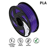Lee Fung 1.75mm PLA 3D Printing Filament Dimensional Accuracy +/- 0.05 mm 2.2 LB Spool DIY Material Tools (Purple)
