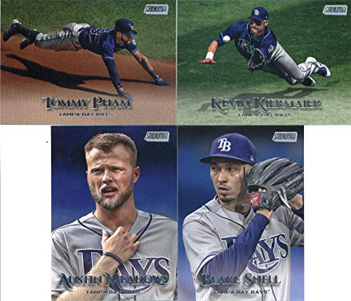 Bay Set Tampa Rays - 2019 Topps Stadium Club Baseball Tampa Bay Rays Team Set of 4 Cards: Blake Snell(#213), Austin Meadows(#247), Kevin Kiermaier(#287), Tommy Pham(#295)