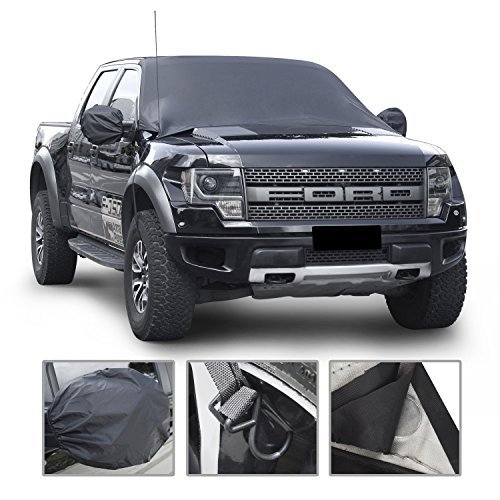 Car Windshield Snow Cover By Mak Tools,Extra Large Size for Most Vehicle,72x57With Mirror Snow Covers