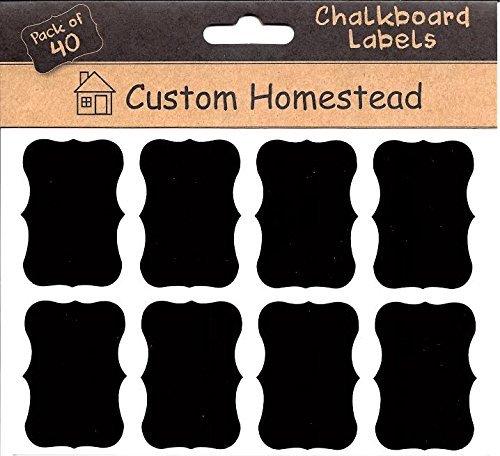 Fancy Rectangle Mini Chalkboard Labels product image