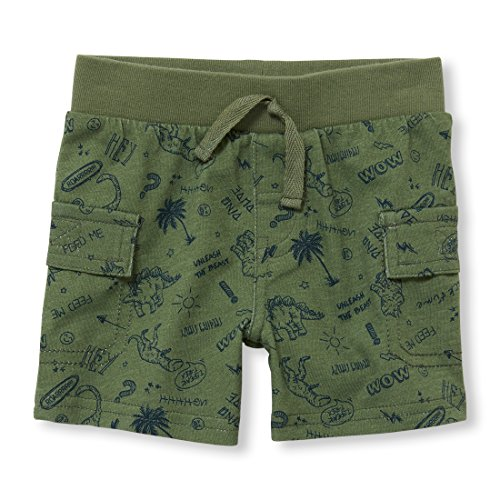 (The Children's Place Baby Boys Shorts, Garden Cress 97323, 0-3MONTHS,SINGLE KNIT SHORT)