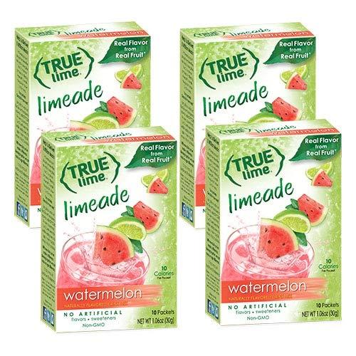 NEW FLAVOR: True Lime   WATERMELON AQUA FRESCA (Pack of 4) 10ct each box. True Lemon   True Citrus NON GMO and NO GLUTEN (True Stevia Lime)