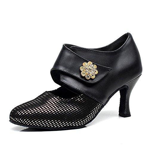 Chaussures De Moderne fond Salon Mou Wymname Womens Latines Danse Noir RA51nIpWq