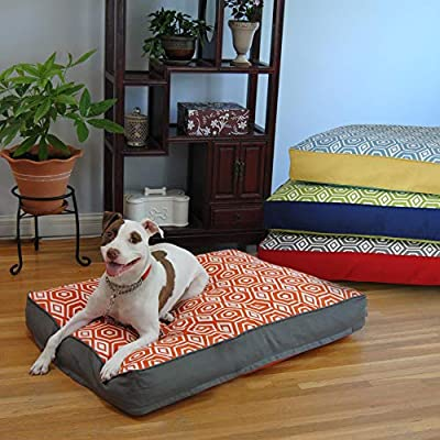 Honeycomb Memory Foam Topper Dog Pillow Bed Size by EZ Living Home