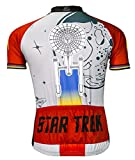 Star Trek Final Frontier Cycling Jersey by Brainstorm Gear Mens Short Sleeve Red and Gray