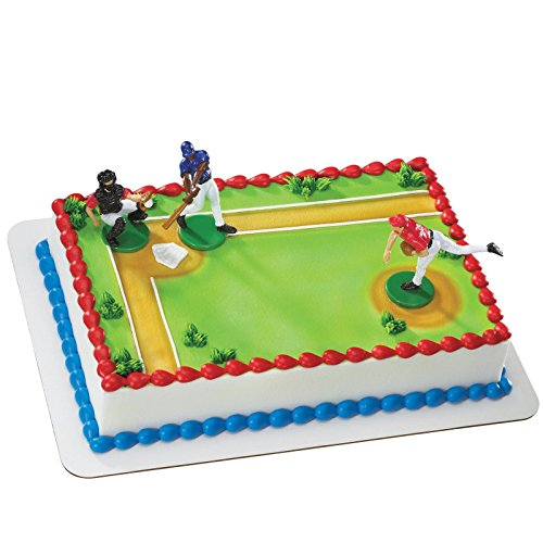 Batter Up Baseball Cake Dec (Baseball Decorating Kit)