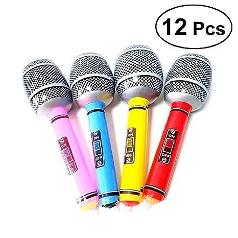 Amazon.com: 12 piezas inflables de PVC Micrófono Playa ...