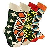 Novelty Mens Dress Socks - Funky Punk Geometry Patterned Mens Cerw Fun Socks