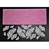 (US) FOUR-C Decorating Supplies Silicone Baking Mat Sugar Lace Mold for Design Color Pink
