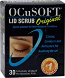 OCuSoft Lid Scrub Original Eyelid Cleanser -- 30 Individually Wrapped Pre-Moistened Pads - 3PC