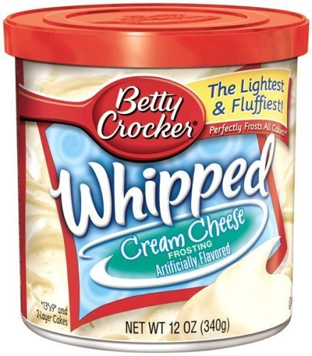 Cream Cheese Whipped - Betty Crocker Ready-to-serve Soft Whipped Frosting, Cream Cheese, 12-ounce Canister (Pack of 2)