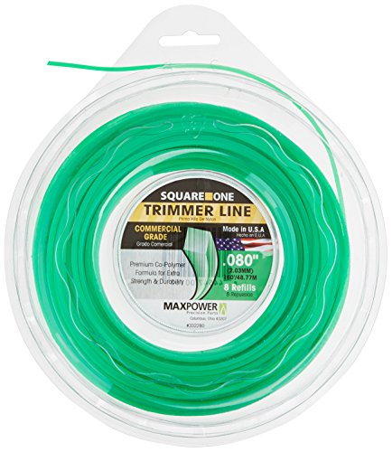 Maxpower 332280 Square Cut Commercial Grade Trimmer Line, Green, Medium by Maxpower