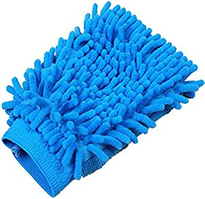 Car Wash Mitt Microfiber Wash Gloves Chenille Scratch-Free Car Wash Gloves(Blue)