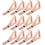 Anladia 12PCS 20PCS Tablecloth Clips Stainless Steel Table Cover Clamps Table Cloth Holders (12PCS, Rose Gold)