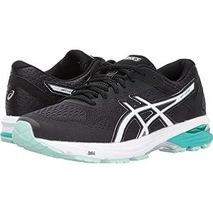 ASICS Women's GT-1000 6 Running Shoe, Black/White/Atlantis, 8 Medium US