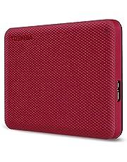 هارد خارجي HDD بواجهة USB 3.2 بميزة النسخ الاحتياطي التلقائي كانفيو ادفانس من توشيبا - 2 تيرابايت - احمر