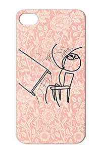 TPU Tear-resistant Meme Comic Comic Rage Flip Desk Funny Face Case For Iphone 4s Black Desk Flip Rage Meme T Shirt