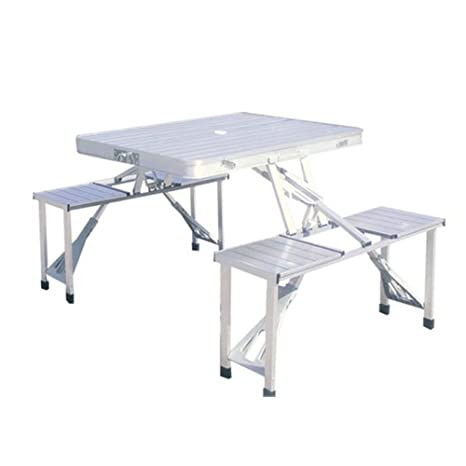 HUKOER mesas y sillas, Capa de Aluminio al Aire Libre mesas ...