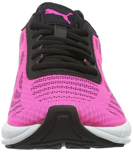 Puma Meteor Wns - Chaussures de Running Compétition - Femme - Rose (Pink Glo Black Black 04) - 39 EU