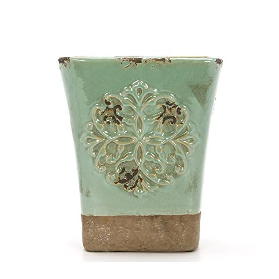 """Hosley's Seafoam Green, Ceramic Vase, 9"""" High. Ideal for Dried Floral, Gift For Wedding, Bridal, Garden O7 - PRODUCT: Hosley's Seafoam Ceramic Vase USES: These are just the right use for dry floral or greenery arangements, as a decor next to fireplaces and as a planter, for both fresh flowers or plants (must use protective liner if used). It can be the right gift for wedding or special occasions. BENEFITS: They can accent your home or office for the right decor with or without dry floral or greenery additions. - vases, kitchen-dining-room-decor, kitchen-dining-room - 51yVsj2meSL. SS570  -"""